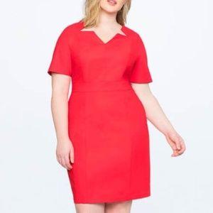 Eloquii Sheath Cut Out Red Dress